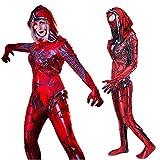 Venom Gwen Stacy Costume Cosplay Spider Zentai Jumpsuit Bodysuit Red Adults Kids