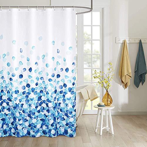 WOLKE SIEBEN Premium Duschvorhang Badezimmer Vorhang Polyester Wasserdicht Waschbar Anti-Schimmel I Verstärkter...