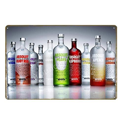 shovv Absolut Vodka Metall Blechschilder Land von Schweden Bier Wein Wand Kunstdruck Eisen Poster Vintage Bar Pub Home Decor Plaque