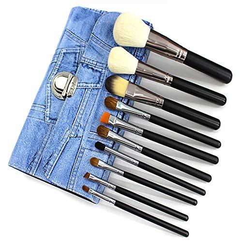 Pinceaux Maquillage Cosmétique Professionnel,Conception 10Pcs Kit Cosmétique Brush,Avec Cowboy Pinceau De Maquillage Pack