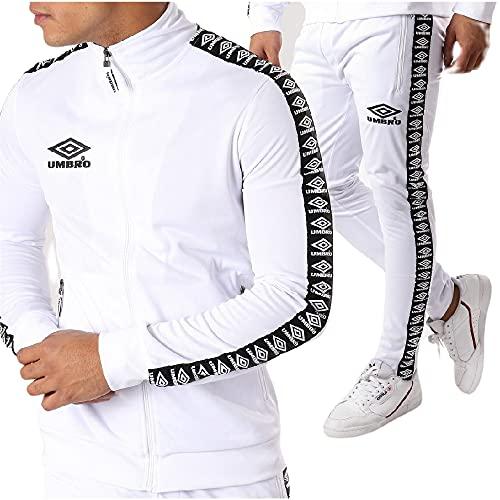UMBRO Street Knit Suit Authentic - Conjunto de chándal para hombre, color blanco