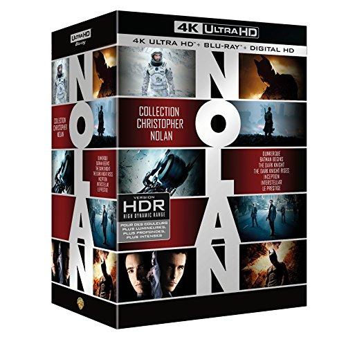 Coffret Christopher Nolan 7 Films : Dunkerque / Interstellar / Inception / Batman Begins / The Dark Knight / The Dark Knight Rises / Le Prestige - Blu-Ray 4K