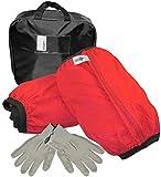 Aerzetix - Set di 2 Catene da Neve Calzini in Tessuto per Pneumatici Auto - Taglia L - Colore Rosso e Nero - C47086