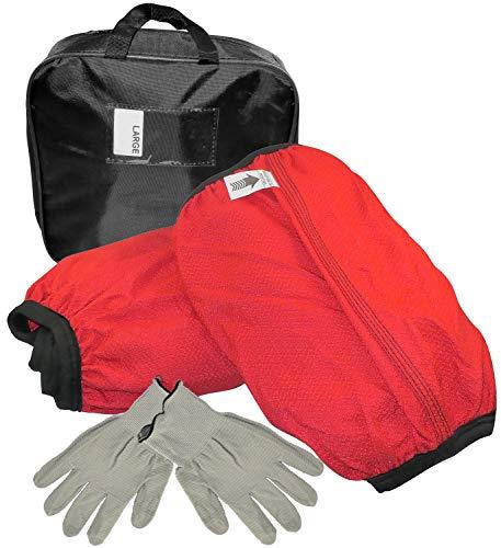 AERZETIX - Juego de 2 Cadenas de Nieve Calcetines Textiles para neumáticos de Coche - tamaño L - Color Rojo y Negro - C47086