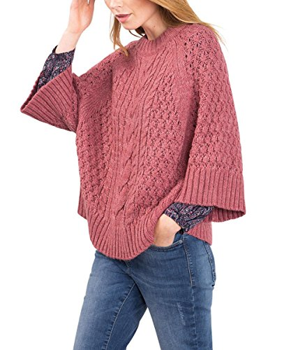 ESPRIT Damen 106EE1I026 Pullover, Rosa (Blush 5 669), 36 (Herstellergröße: S)