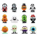 HALLOWEEN: Questo assortimento di giocattoli a carica per riempitrice per sacchetti di halloween include 12 diversi giocattoli a carica di design, senza duplicati. Abbastanza quantità e colori brillanti, la scelta migliore per feste a tema halloween....