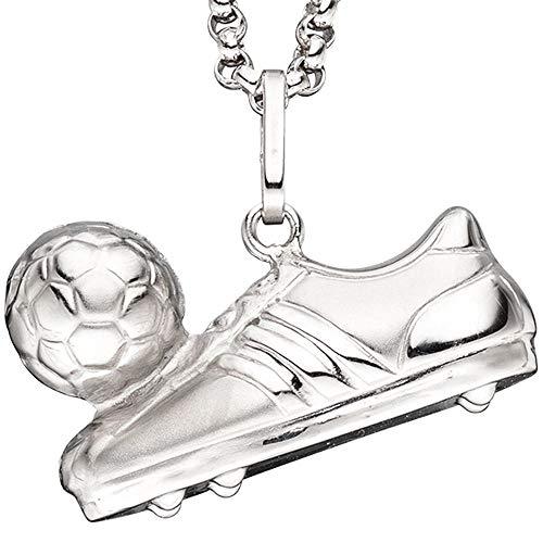 Kettenanhänger Anhänger Fußball Fußballschuh Ball 925 Sterling Silber mattiert