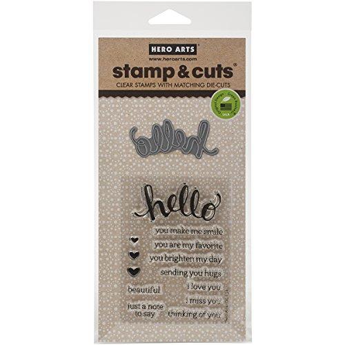 Hero Arts DC151 Stamp & Cut, Hello