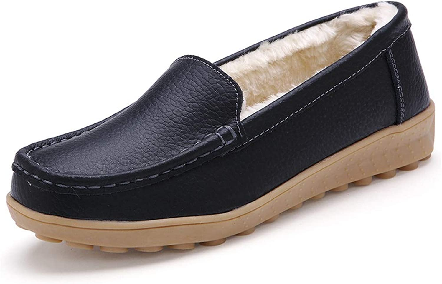 Kyle Walsh Pa Women's Winter Flat shoes Soft Warm Fur Non-Slip Comfortable Female Winter Pregnant Driving Flats