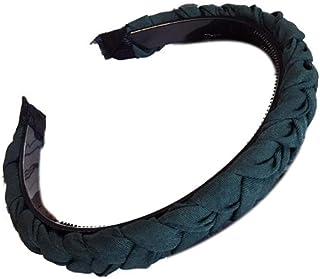 Bodhi2000, cerchietto per capelli da donna, antiscivolo, tinta unita, in tessuto, accessorio per capelli