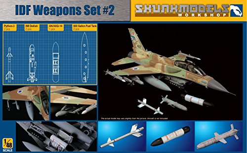 Shunkmodels 1/48 IDF Weapon Set#2 (600 Gal,AN/AXQ-14, Python 3, Delilah) SW-48002