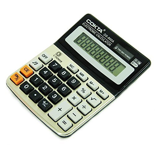 Business & Office Electronic Handheld 8 Digit Calculator With Sound and Off Button, Tilted Screen For Easy Reading, Two Way Power. By Stationary Station