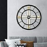 B/H Reloj de Pared con numeros Moda DIY,Reloj de Pared silencioso de Lujo Ligero, Reloj de Pared Simple y Simple-E,Reloj de Pared Mute Moda Escuela