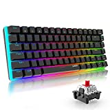 AJAZZ AK33 Tastiera Meccanica Gaming RGB con 16.8 milioni colorati, 82 Tasti 100% Anti-ghosting...
