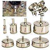 Frese a tazza per seghe a tazza 7PCS / Set diamantati Sega Drill Bit Power Tools trapano Punte for vetro mattonelle di marmo 10-100mm 10/25/40/55/70/80 / 100mm Per l'apertura ( Size : 7PCS )