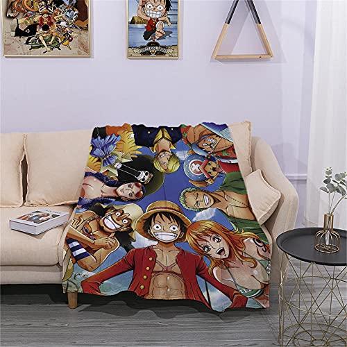 Manta de Tiro de Anime de One Piece - Manta de Siesta de Franela Suave y mullida para sof¨¢ para adultos-Estilo-13_80 * 120cm