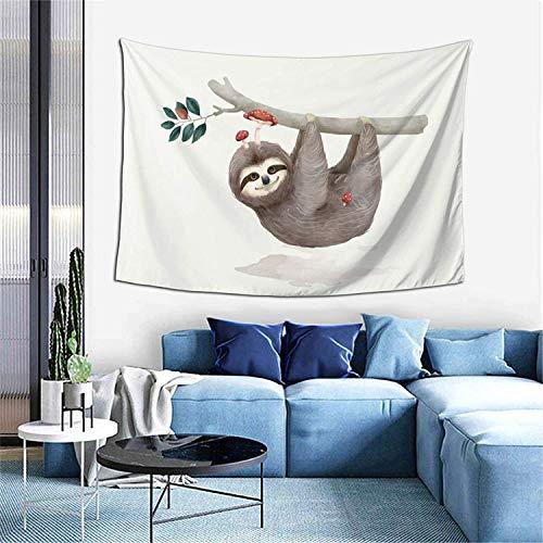 Pug con disfraz de ángel, tapiz, decoración del hogar, cortina de puerta para dormitorio, sala de estar, exterior, 60 x 40 pulgadas, perezoso con setas