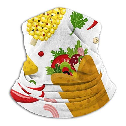 XCNGG Mexikanische Lebensmittelfarbe Sturmhaube Multifunktionale Stirnbandschals Winddichte Sport-Freizeit-Kopfbedeckungen
