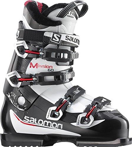 Salomon Mission 60 - Botas de esquí para hombre, color negro - negro/blanco/rojo, tamaño 12.0