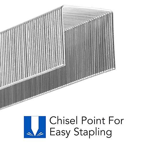 "Swingline Heavy Duty Stapler, 160 Sheet High Capacity, Durable Office Desk Staplers, Black/Gray & Staples, Heavy Duty, 1/2"" Length, 90 Sheet Capacity, 100/Strip, 1000/Box, 1 Pack, Silver Photo #7"