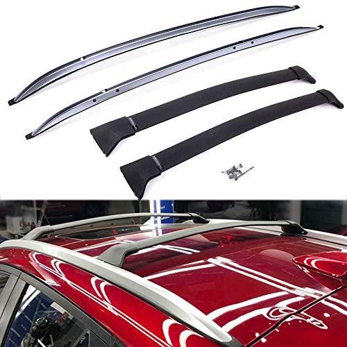 YIJIAREN Aluminio Barras Laterales De Rieles De Techo para Mazda CX-3 2016 2017 2018 Barras Transversales Barras Cruzadas (4Pcs)