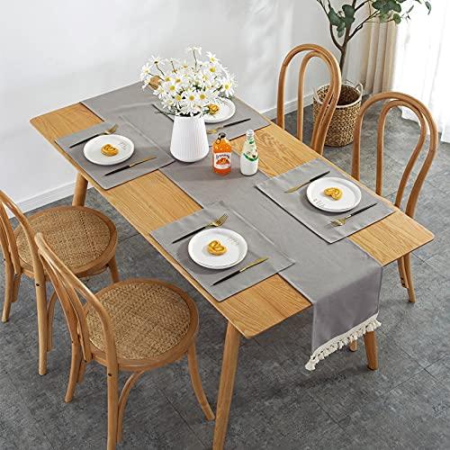 DSman Tablecloth, Tischdecke für Party, Geburtstag, Hochzeit Spitzenquaste Tischläufer