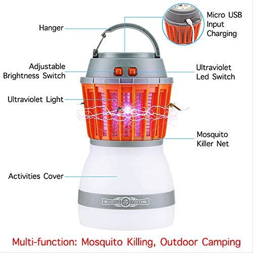 Preisvergleich Produktbild SMYWW Wasserdicht Licht Mückenkiller Mücken Mückenlicht für Innen Falle Camping Laterne 2in1 tragbare USB Anti Mosquito Fly Insect Killer Zelt Licht