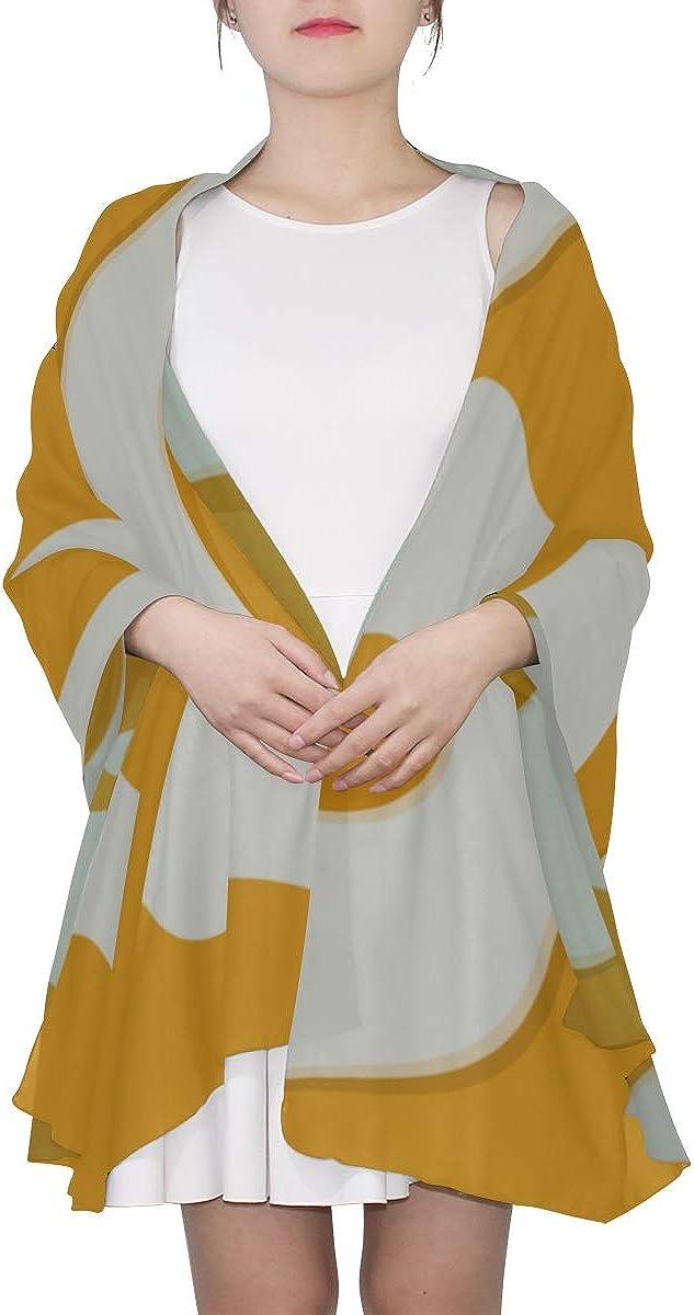 Shawl Scarf Wrap Yellow White Fried Eggs Cartoon Womans Scarf Womens Fashion Scarf Lightweight Print Scarves Big Scarf Scarf Long Women