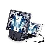yunyu Lupa, Lupa para Pantalla de teléfono, 8.5'con Altavoz, proyector para teléfono Celular, Amplificador ampliado, Soporte para móvil, Soporte para Video de películas en 3D HD Compatible con to