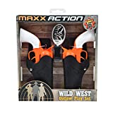 Sunny Days Entertainment Wild West Outlaw Play Set – 5 Piece Orange Western Toy for Kids | Cowboy Sheriff Cap Pistol with Holster and Adjustable Belt | Ring Caps Sold Separately (101750)