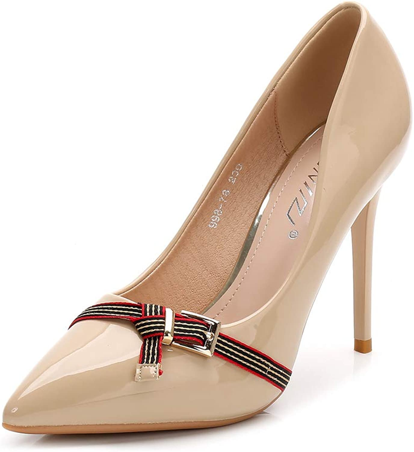 Cici shoes Women's Classic Slip On Pointed Toe High Heel Wedding Dress Pumps shoes