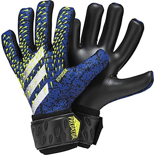 Adidas - Guanti da portiere unisex PRED GL LGE, colore: nero/blu reale/giallo solare/bianco, 7