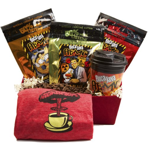 Boca Java Roast to Order Coffee, Atomic Holiday Gift Set - with Ground Coffee