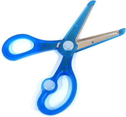 KUTSUWA STAD *儿童剪刀,带弹簧功能,蓝色 (SS101BL)