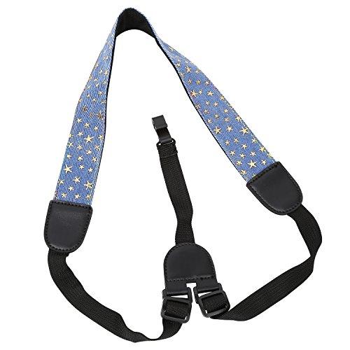 Mugig Ukulele Strap, Adjustable Soft Cotton Ukulele Strap, Neck Sling for Ukulele with Sound Hole Hook