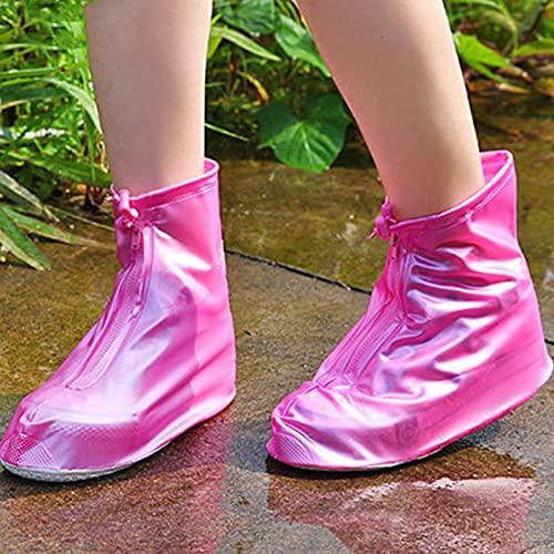 QYTS Fundas de zapatos reutilizables impermeables de silicona antideslizantes y plegables para adultos y hombres y mujeres, cubiertas de zapatos impermeables de silicona