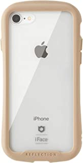 iFace Reflection iPhone SE 2020 第2世代/8/7 ケース クリア 強化ガラス [ベージュ]