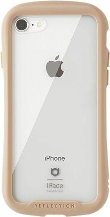 iFace Reflection iPhone8/7 ケース クリア 強化ガラス [ベージュ]