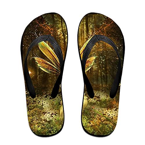 Sandalia fina unisex con chanclas,El cuento de las hadas, Yoga Mat chancletas de cuero cómodo Beach Tamaño de la correa con el peso ligero EVA Suela S
