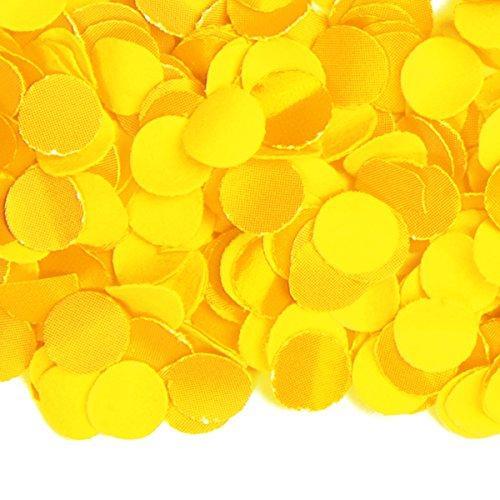 Folat Konfetti gelb 1kg Deko Hochzeit Hochzeitsdeko schwer entflammbar