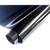 FENTIS Película para Ventana Solar Película de vidiro unidireccional Lámina de protección Solar 60 * 200cm Resistente a los Rayos UV No Pegamento Autoadhesiva Negro para hogar y oficia