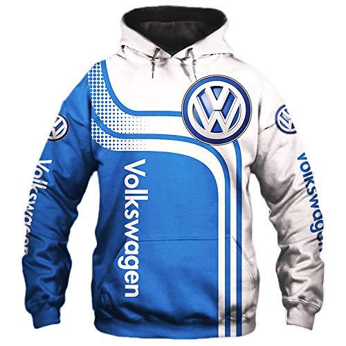 NISHUSHANW 3D Drucken Hoodies,Jacke Leicht Sweatshirt Zum Volkswagen Unisex Herren Beiläufig Sportkleidung Oben / A1 / M