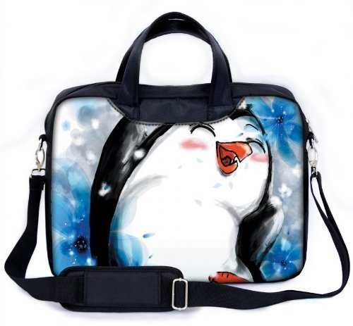 """MySleeveDesign 17 - 17.3"""" Notebook Carry Bag Laptop Bag with Shoulder Strap 13.3 Inch / 14 Inch / 15.6 Inch / 17.3 Inch - SEVERAL DESIGNS - Pinguin"""