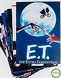 Decoraciones para fiestas de los años 80, paquete de 10 – carteles de cine y TV – tamaño A4