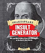 Shakespeare Insult Generator( Mix and Match More Than 150 000 Insults in the Bard's Own Words)[SHAKESPEARE INSULT GENERATOR][Spiral]