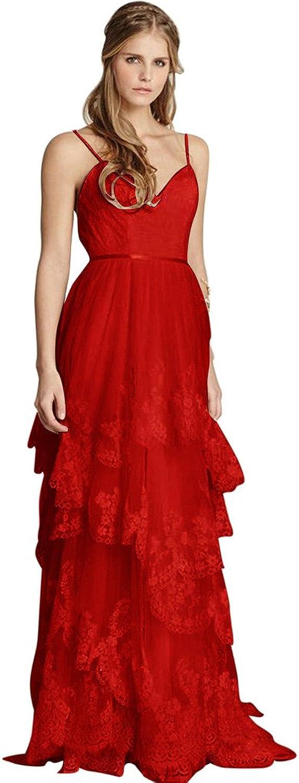 JoyVany Glamgoldus Ruffles Sexy Cool Beach Wedding Dress Summer Lace Bride Gowns