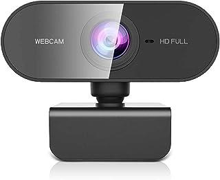 Owfeel Webcam 1080P com microfone WebCam de Streaming para Desktop sem drive, em Full HD, Câmera de computador USB Plug an...
