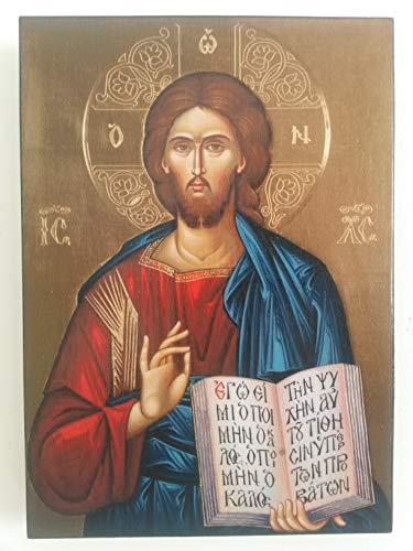 Artastate Ikone von Jesus Christus aus Holz, Orthodoxe Christliche Ikonographie