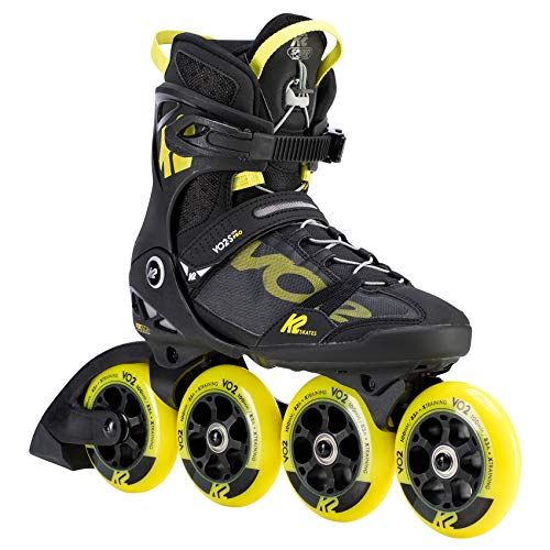 K2 Skates Herren VO2 S 100 PRO M Inline Skates, black-yellow, 43.5 EU (9 UK)