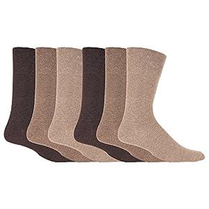 IOMI – 6 pares hombre sin elasticos diabeticos calcetines para la circulacion